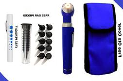 Blue LED Light Mini Fiber Optic Pocket Ent Medical Otoscope