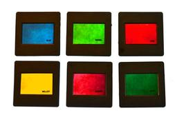 """Eisco Labs RBG/CMY Mounted Color Filters, 2""""x2""""  - Red, Blue"""