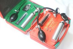 NEW ENT Diagnostic,Otoscope,Ophthalmoscope set with Insuffla