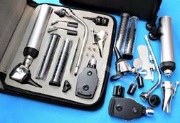 *NEW*ENT  Diagnostic,Otoscope,Ophthalmoscope set W/Zipper Ca